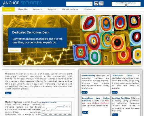 Anchor Securities Website by ThoughtCorp