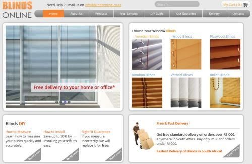 Blinds Online Website by ThoughtCorp