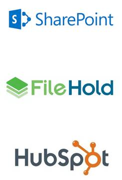 Sharepoint, Filehold, Hubspot